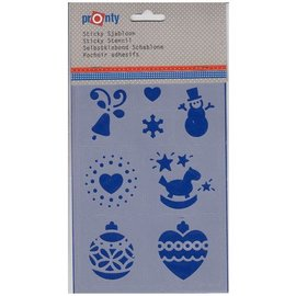 Pronty self-adhesive art template, christmas