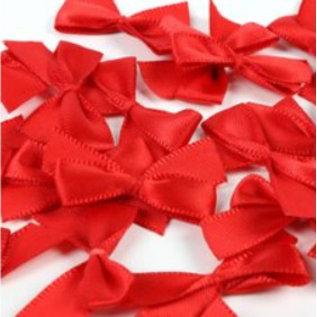 Embellishments / Verzierungen 20 Mini roten Schleifen