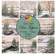 Bilder, 3D Bilder und ausgestanzte Teile usw... Toppers, pictures 9x9 cm of trees in winter