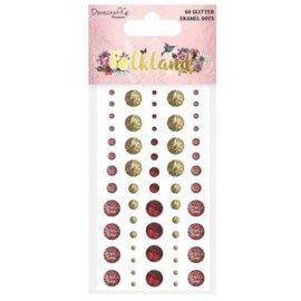 Embellishments / Verzierungen 60 glitter-lijmkralen