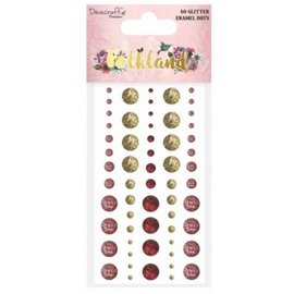 Embellishments / Verzierungen 60 perline adesive glitterate