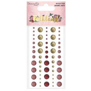Embellishments / Verzierungen 60 Glitter Klebe Perlen, für Scrapbook, basteln mit Papier u.a. kreative Projekte!