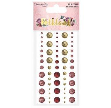 Embellishments / Verzierungen 60 glitter klæbende perler