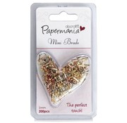 Embellishments / Verzierungen 200 Mini Brads Metallics, 3 mm