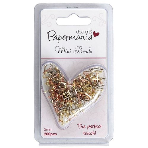 Embellishments / Verzierungen 200 Mini Brads Metallics, 3 mm
