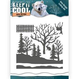 AMY DESIGN Stanzschablonen, Keep it Cool - Cool Forest