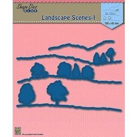 Nellie Snellen Plantillas de punzonado, paisaje