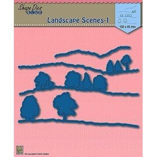 Nellie Snellen Cutting dies,  Landscape