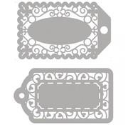 Spellbinders und Rayher Modelli di cutter, 2 etichette in filigrana!