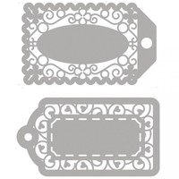 Stanzschablonen, 2 filigrane Labels!