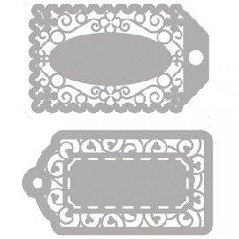 Spellbinders und Rayher Matrices de découpe, 2 étiquettes en filigrane!