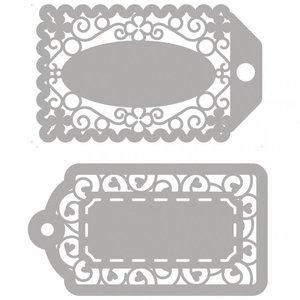 Spellbinders und Rayher Cutter skabeloner, 2 filigree etiketter!