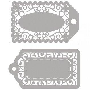 Spellbinders und Rayher Snijmallen, 2 filigraanlabels!