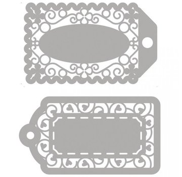 Spellbinders und Rayher cutting dies, 2 filigree labels!