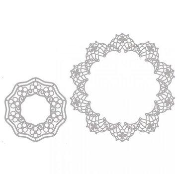 Spellbinders und Rayher Modelli di cutter, 2 Doily Filigrane