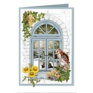 BASTELSETS / CRAFT KITS Komplettes Kartenset für 6 Karten: Fensterkarten