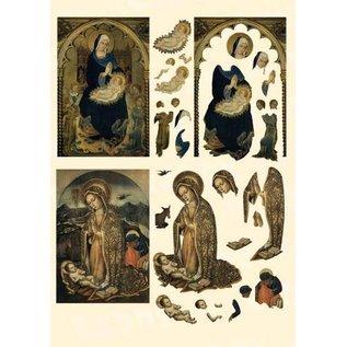 Bilder, 3D Bilder und ausgestanzte Teile usw... Fustellato 3D: Icone Maria e Bambino
