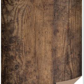 REDDY Caja de tarjetas de 1 hoja con apariencia de madera, tablero de madera, marrón oscuro