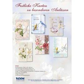 BASTELSETS / CRAFT KITS Kit d'artisanat: 6 cartes pour des occasions spéciales