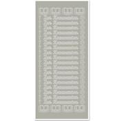 Sticker 1 adesivo, per comunione, argento-argento, tedesco