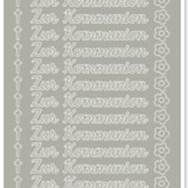Sticker 1 Sticker, For Communion, silver-silver, German