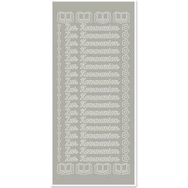 STICKER / AUTOCOLLANT 1 adesivo, per comunione, argento-argento, tedesco