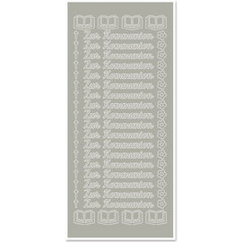 STICKER / AUTOCOLLANT 1 klistermærke, til kommunion, sølv-sølv, tysk