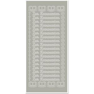 Sticker 1 Sticker, zur Kommunion, silber-silber, deutsch