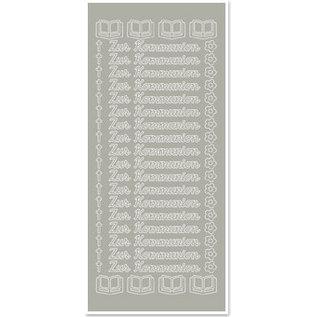 STICKER / AUTOCOLLANT 1 Sticker, voor communie, zilverzilver, Duits