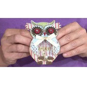 Docrafts / X-Cut X-cut, hulning skabelon, A5 Set (9pcs) - Owl