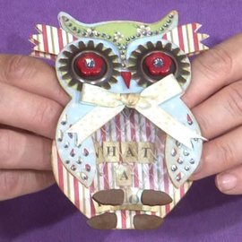 Docrafts / X-Cut X-corte, plantilla de perforación, A5 Set (9pcs) - Owl