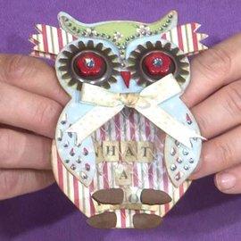Docrafts / X-Cut X-cut, hulning skabelon, A5 Set (9pcs) - Owl