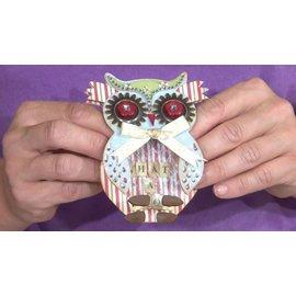 Docrafts / X-Cut X-coupe, modèle de punch, A5 Set (9pcs) - Owl