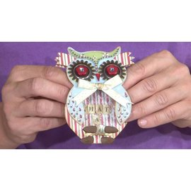 Docrafts / X-Cut X-taglio, template pugno, A5 Set (9pcs) - Owl