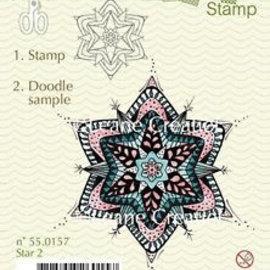Leane Creatief - Lea'bilities und By Lene Gennemsigtig frimærke, doodle christmas ornament
