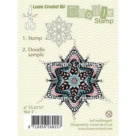 Leane Creatief - Lea'bilities und By Lene Timbro trasparente, ornamento di Natale di doodle