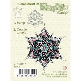 Leane Creatief - Lea'bilities und By Lene Transparante stempel, doodle kerst ornament