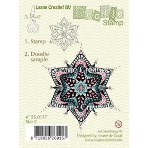 Leane Creatief - Lea'bilities und By Lene Timbre transparent, ornement de Noël doodle