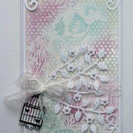 Joy!Crafts / Jeanine´s Art, Hobby Solutions Dies /  Plantillas de punzonado, rama con flores.