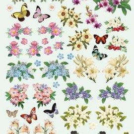 Bilder, 3D Bilder und ausgestanzte Teile usw... 3D fustellati fiori e farfalle