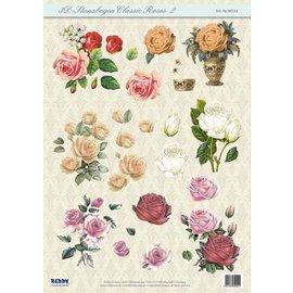 Bilder, 3D Bilder und ausgestanzte Teile usw... Feuille de perforation 3D Classic Roses
