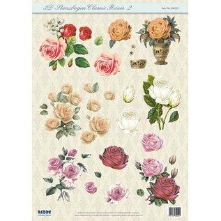 Bilder, 3D Bilder und ausgestanzte Teile usw... 3D ponsplaat Classic Roses