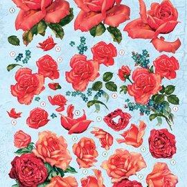 Bilder, 3D Bilder und ausgestanzte Teile usw... 3D die cut sheet, red roses