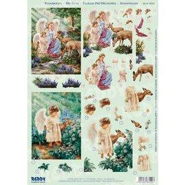 Bilder, 3D Bilder und ausgestanzte Teile usw... 3D punching sheet, angel with deer
