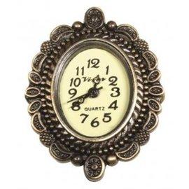 Vintage, Nostalgia und Shabby Shic Vintage Metall- Uhrwerk mit Zierrand