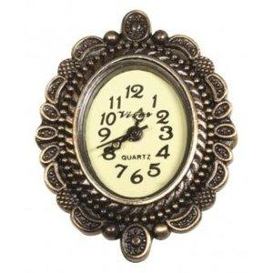 Vintage, Nostalgia und Shabby Shic Vintage metalen uurwerk met decoratieve rand