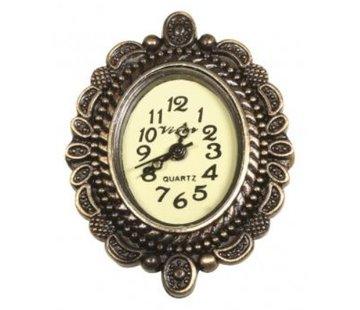 Embellishments / Verzierungen Vintage metalen uurwerk met decoratieve rand