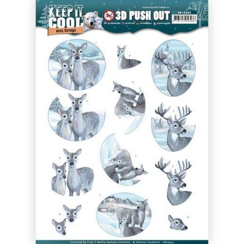 Bilder, 3D Bilder und ausgestanzte Teile usw... Die cut, reindeer