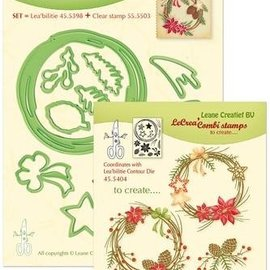 Leane Creatief - Lea'bilities und By Lene Stamp & cutting dies SET: Wreath