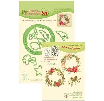 Leane Creatief - Lea'bilities und By Lene Stamp & cutting dies SET: Wreath